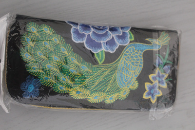 PEACOCK WALLET  (BLUE & GREEN)