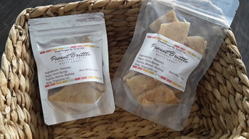 PEANUT BRITTLE - AVAILABLE  in 60 grams and 120 grams