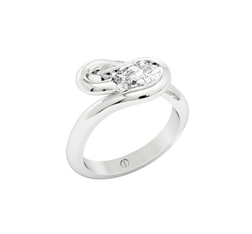 Pear Shaped Diamond Ring