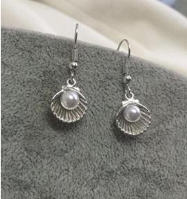 Pearl & Seashell Silver Dangle Earrings