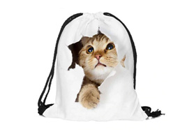 Peeking Cat POLYESTER BAG