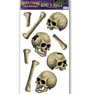 Peel and Place Skulls and Bones Stickers