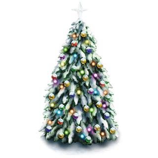 Peel & Place Christmas Tree