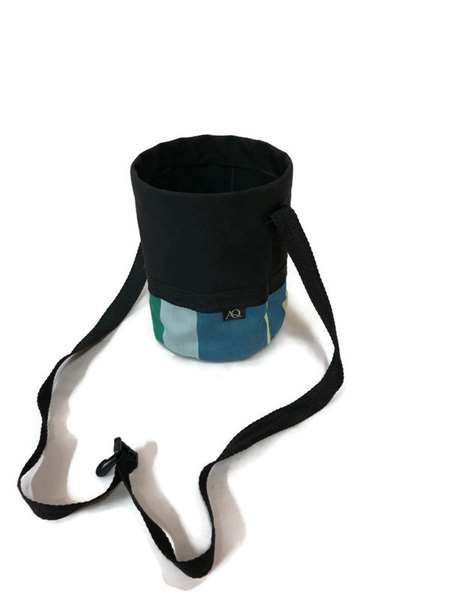 Peg bag - black/greens