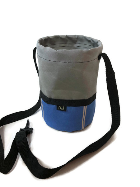 Peg bag - blue/grey