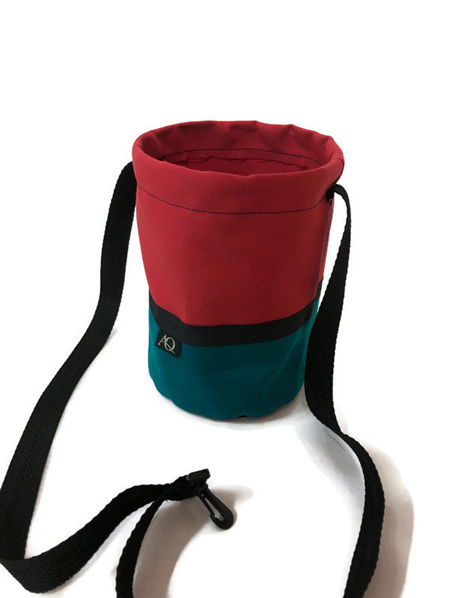 Peg bag - green/red