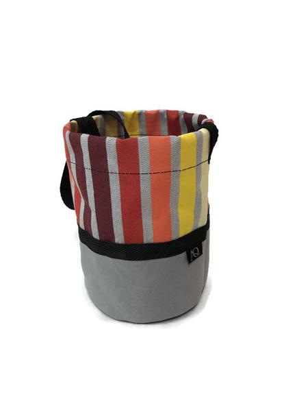 Peg bag - grey rainbow