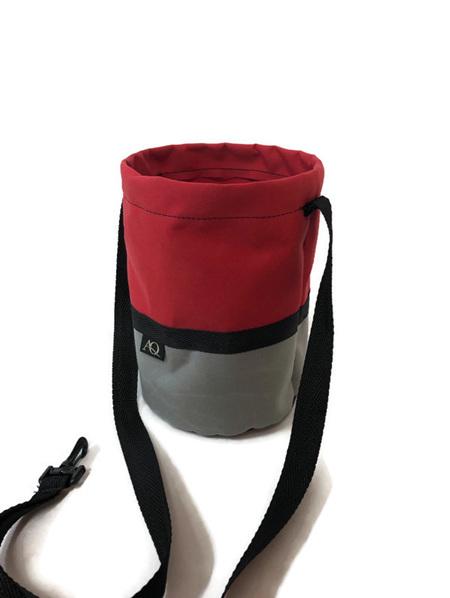 Peg bag - red/grey