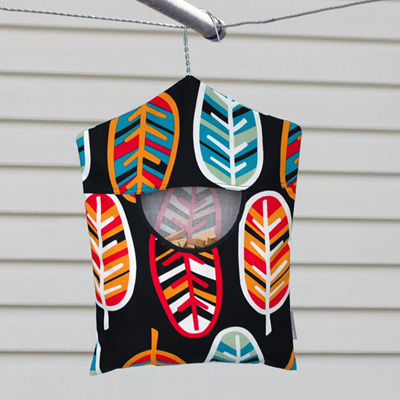 peg pouch   abstract feathers