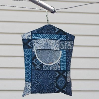 peg pouch   blue myriad