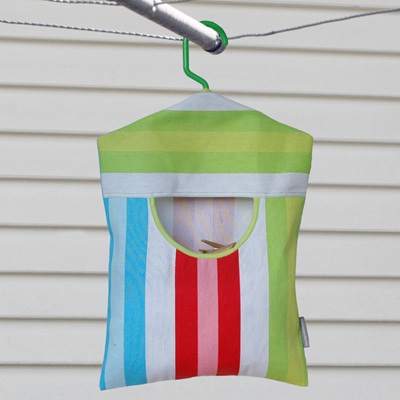 peg pouch | bright stripe : lime trim