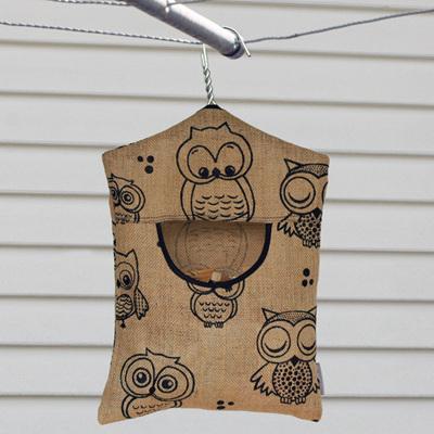 peg pouch | hessian owl