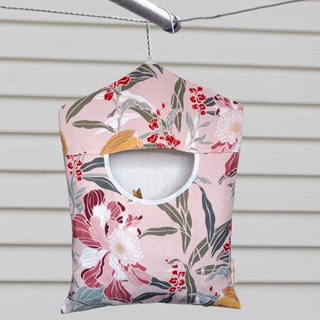 peg pouch | pink floral