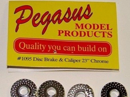 """Pegasus 1095 Disc Brakes with Calipers 23"""" (Chrome Plated)"""