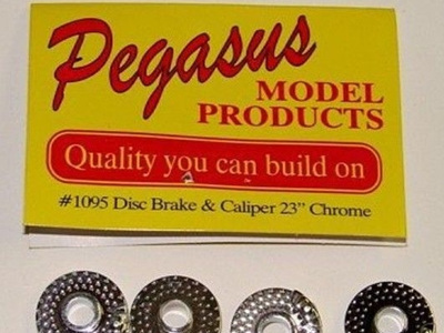 "Pegasus 1095 Disc Brakes with Calipers 23"" (Chrome Plated)"