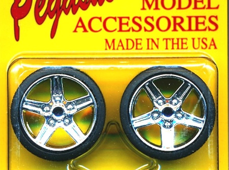 Pegasus 1266 1/24-1/25 IROC Chrome Rims w/Tires (4)