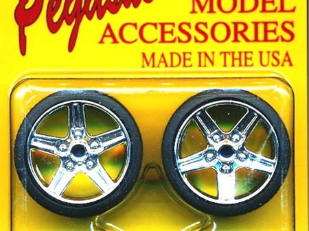 Pegasus 1266 1/24-1/25 IROC Chrome Rims w/Tires (4)