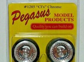 """Pegasus 1285 1/24-1/25 CL's 19"""" Rims W/Tires Chrome"""
