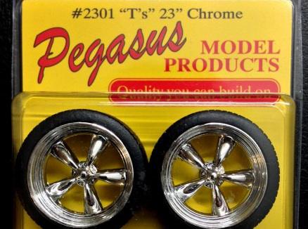 """Pegasus 2301 1/24-1/25 Chrome T's 23"""""""
