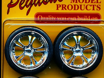 "Pegasus 2303 1/24-1/25 Phat Daddy's 23"" Chrome Rims w/Tires (4)"