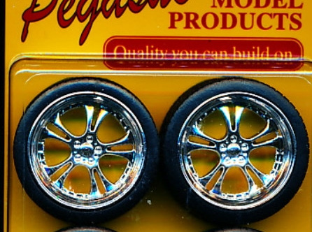 "Pegasus 2303 1/24-1/25 Phat Daddy's 23"" Chrome Rims w/Tires (4)"