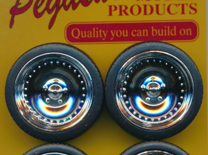 "Pegasus 2311 1/24-1/25 23"" CL's Chrome Rims with Tires (Set of 4)"