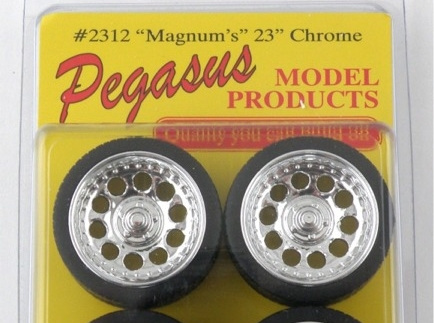 """Pegasus 2312 1/24-1/25 Magnums 23"""" Rims with Tires (Set of 4)"""