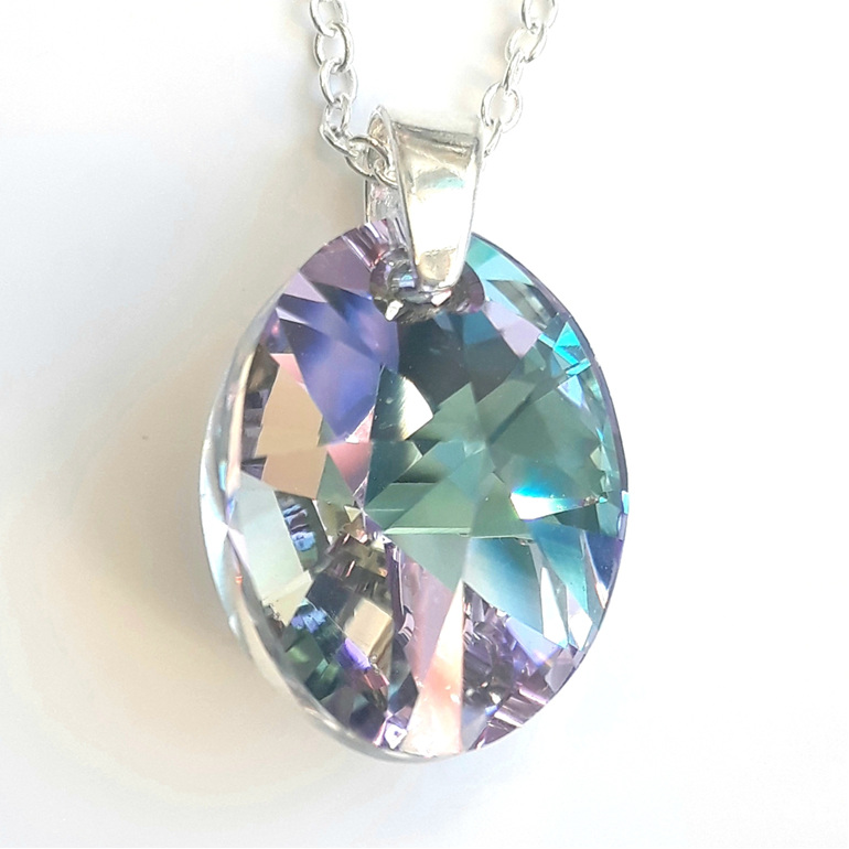 Pendant Swarovski - Oval Vitrail Light 18 x 14mm