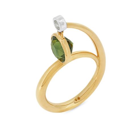 Pendula Green Sapphire Ring