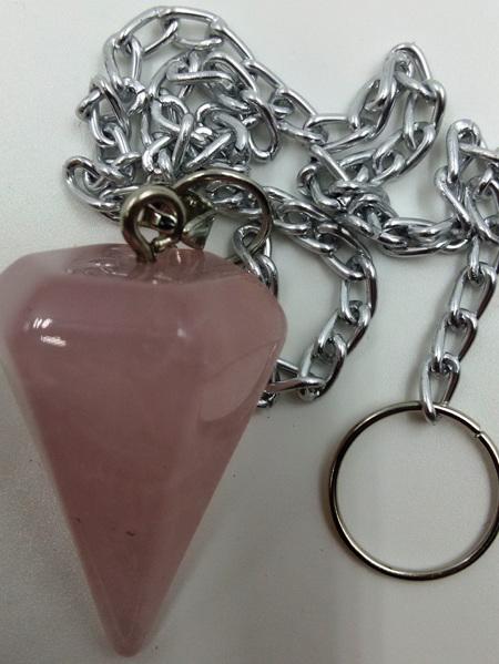Pendulum Rose Quartz Cone