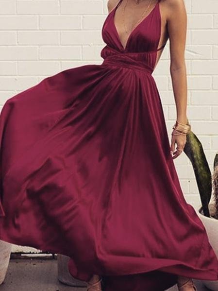 Penelope Maxi Dress - Burgundy