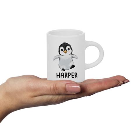 Penguin Personalised Fluffy Mug