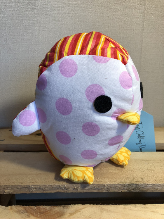 Penguin - Stripes with Pink dotted face