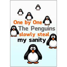 Penguins Fridge Magnet
