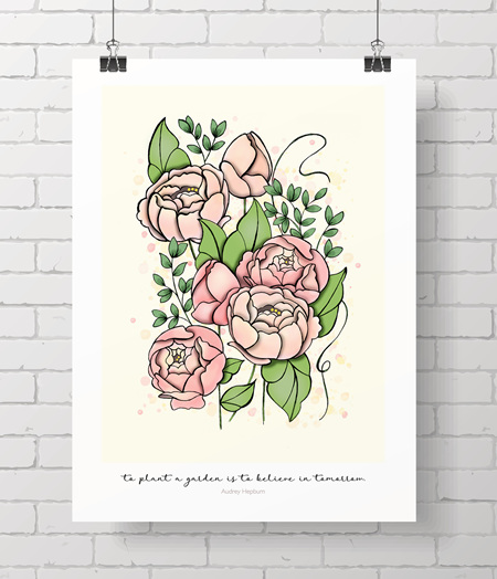 Peonies limited edition print