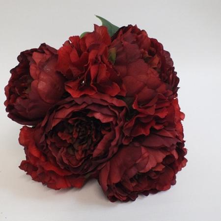 Peony and Hydrangea Posy 4240 Dark Red