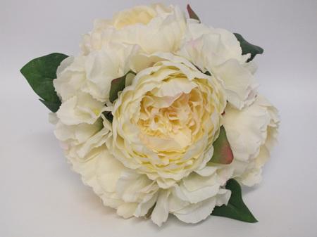 Peony and Hydrangea Posy Cream  4237