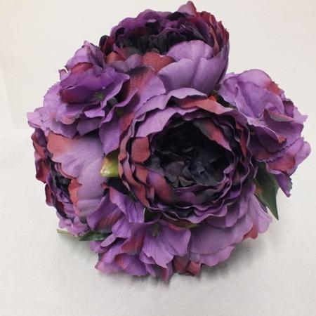 Peony and Hydrangea Posy purple 4555