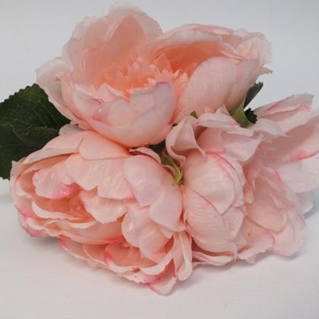 Peony Posy pink 3 stem 1952