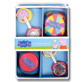 Peppa Pig cupcake decorating kit