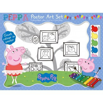 Peppa Pig  Giant Poster Art Set