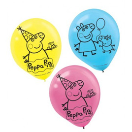 Peppa pig latex balloon pack of 6