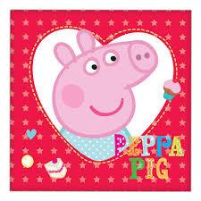 Peppa Pig Lunch napkins x 16