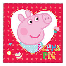 Peppa Pig Lunch napkins x 16