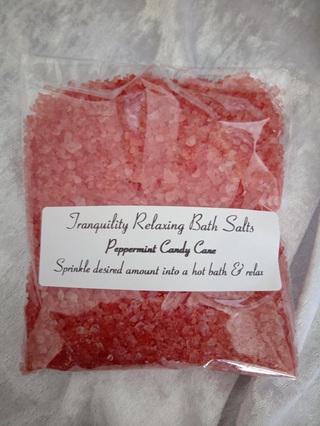 Peppermint Candy Cane Bath Salts (bags)