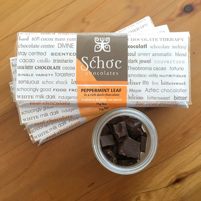 Peppermint Leaf dark chocolate