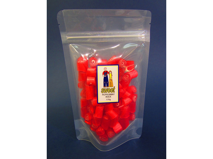 peppermint mint rock candy bag
