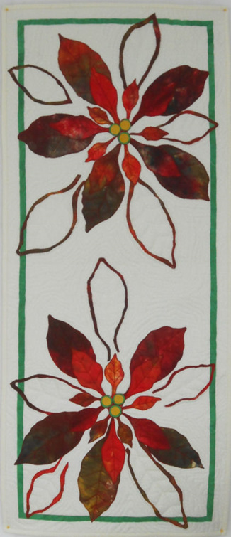 Perfect Poinsettia Table Runner- Two Flower  Kitset
