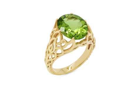 Peridot and Yellow Gold Dress Ring