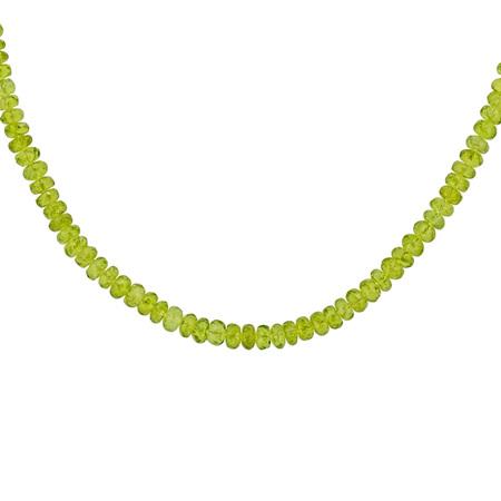 Peridot Bead Necklace